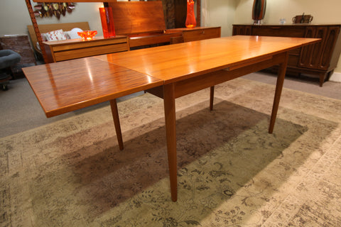 "Danish Teak Extension Table by FARSTRUP (79"" x 32"") or (48"" x 32"")"