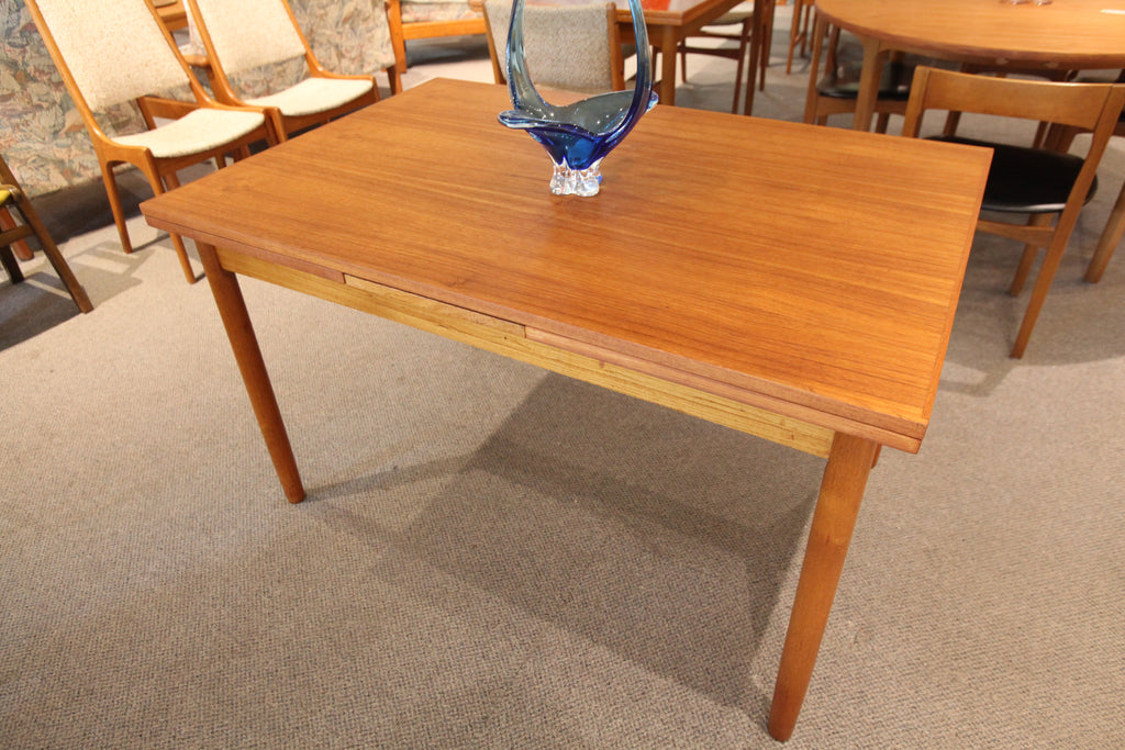 "Danish Teak Extension Dining Table (84"" x 32"") (48"" x 32"")"