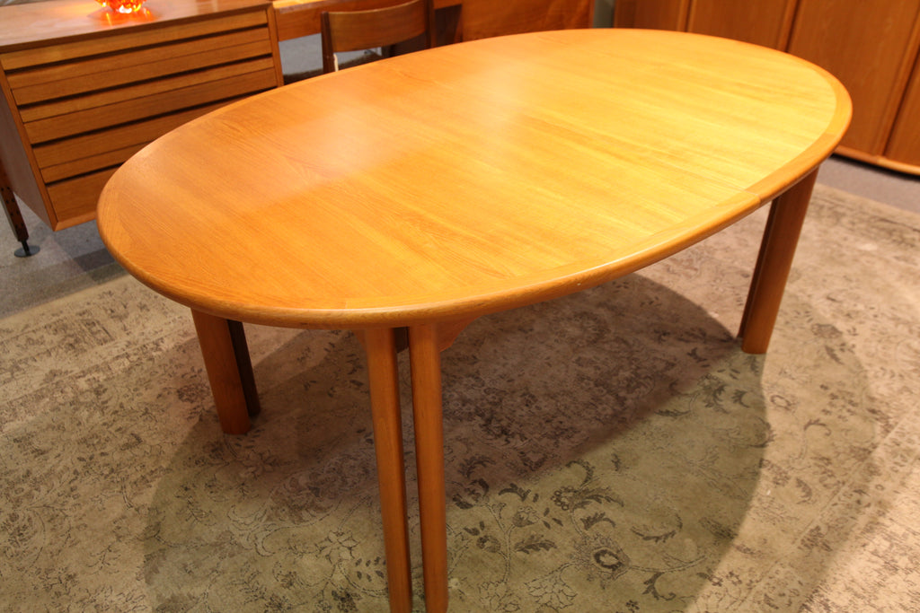 "High Quality Danish Teak Dining Table by Skovby (125"" x 43"") or (68.5"" x 43"")"