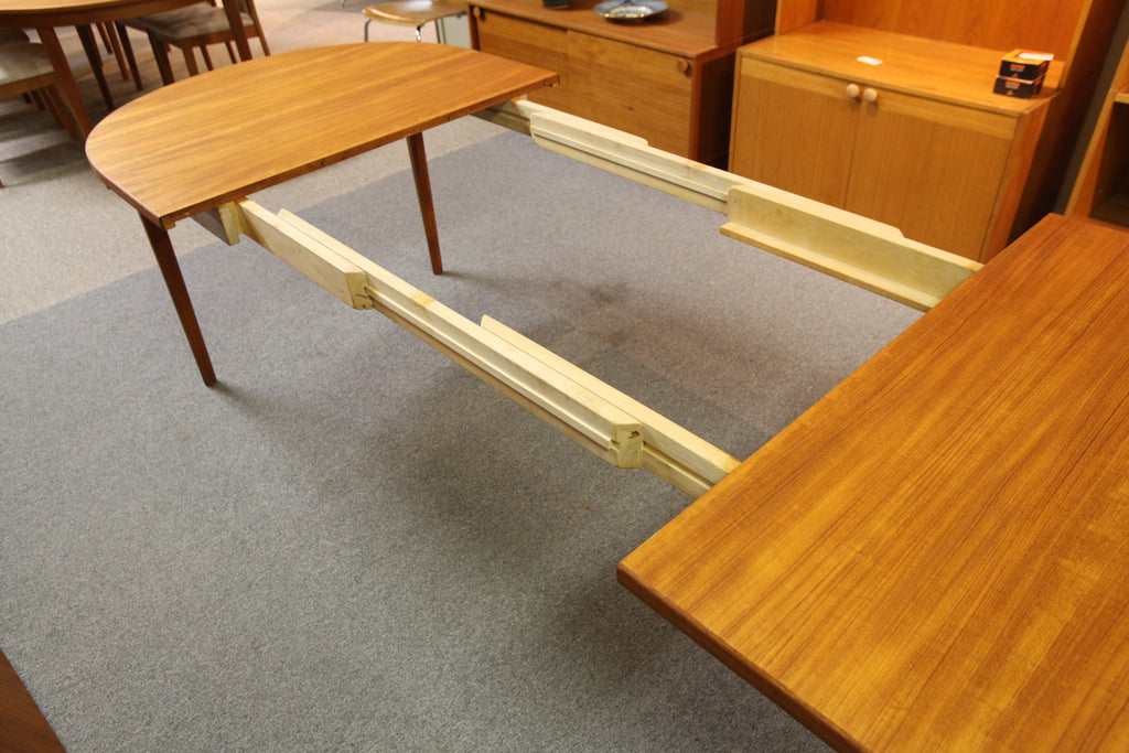 "Mid Century Danish Teak Dining Table by Nils Jonsson for Troeds (104"" x 39.5"") (61""x39.5"")"