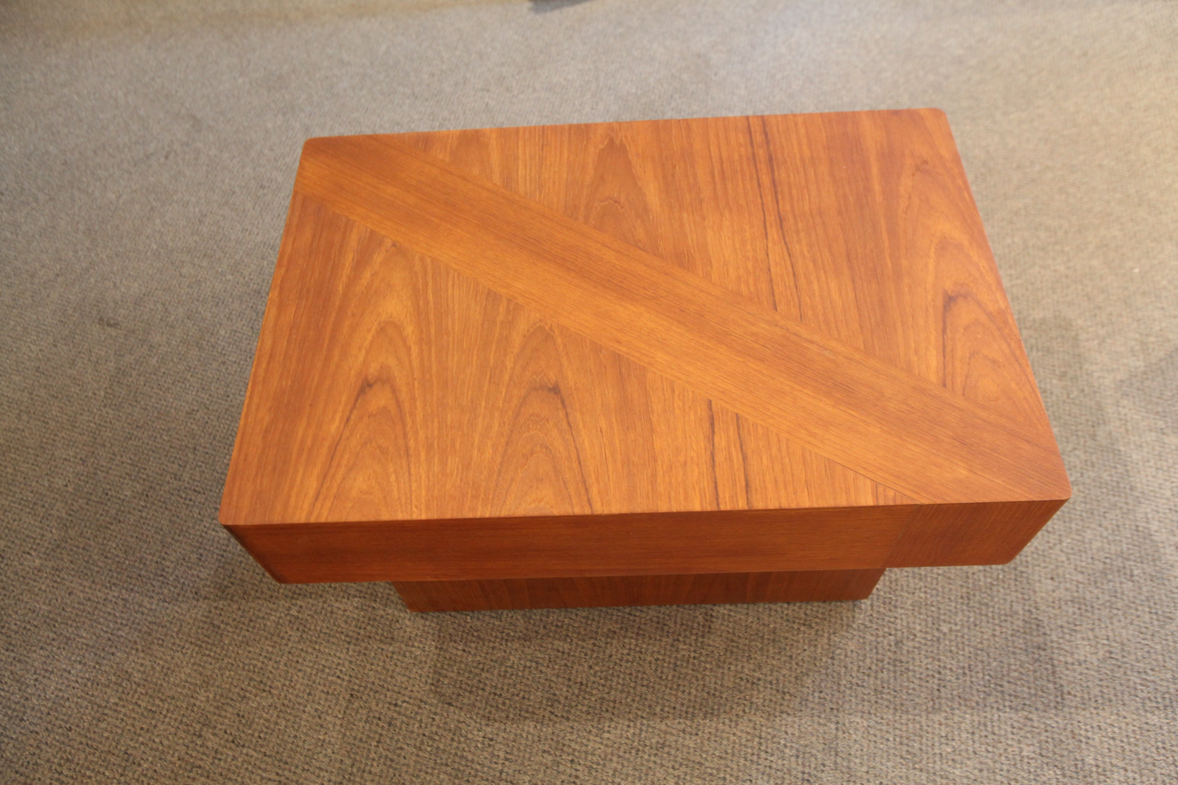"Vintage RS Associates Teak Side Table (30""x20""x17.5""H)"
