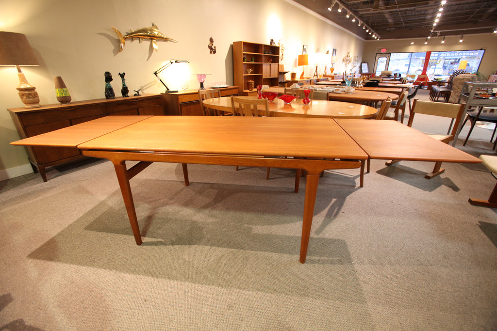 "Vintage Swedish Teak Extension Table (63""x35.5"") or (102.5""x35.5"")"