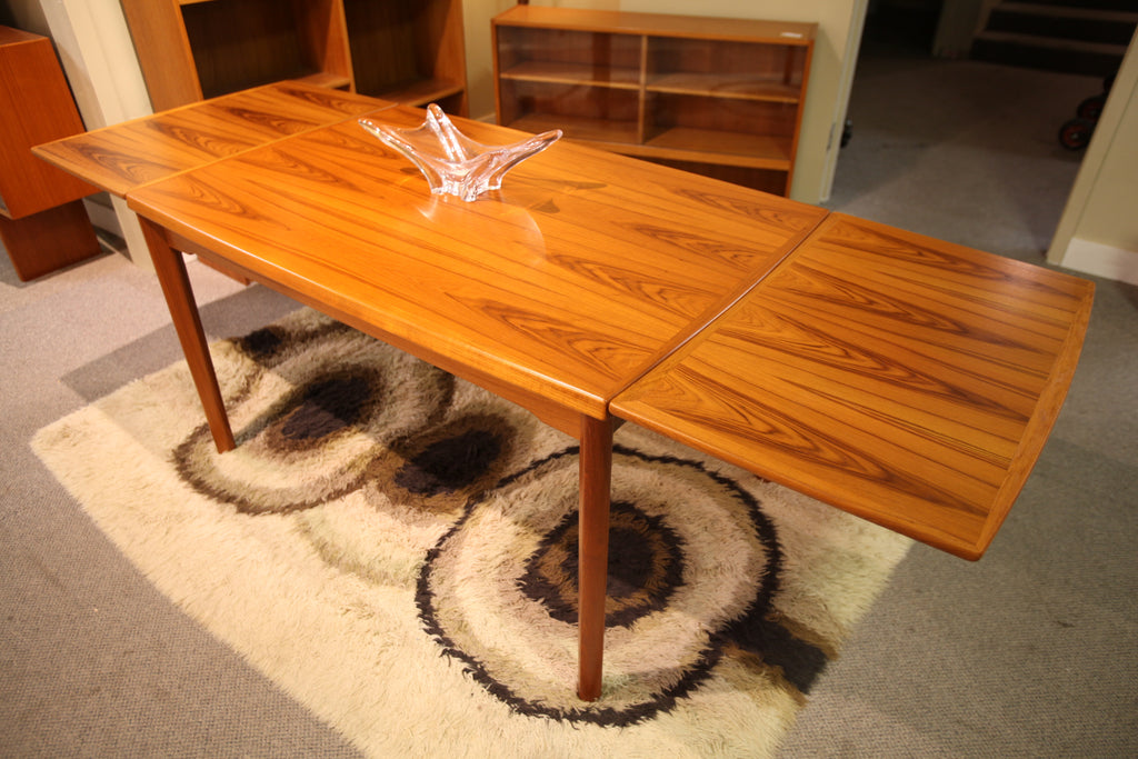 "Beautiful Danish Teak Extension Table by Brdr Furbo Spottrup (89.5"" x 33.5"") (51""x 33.5"""