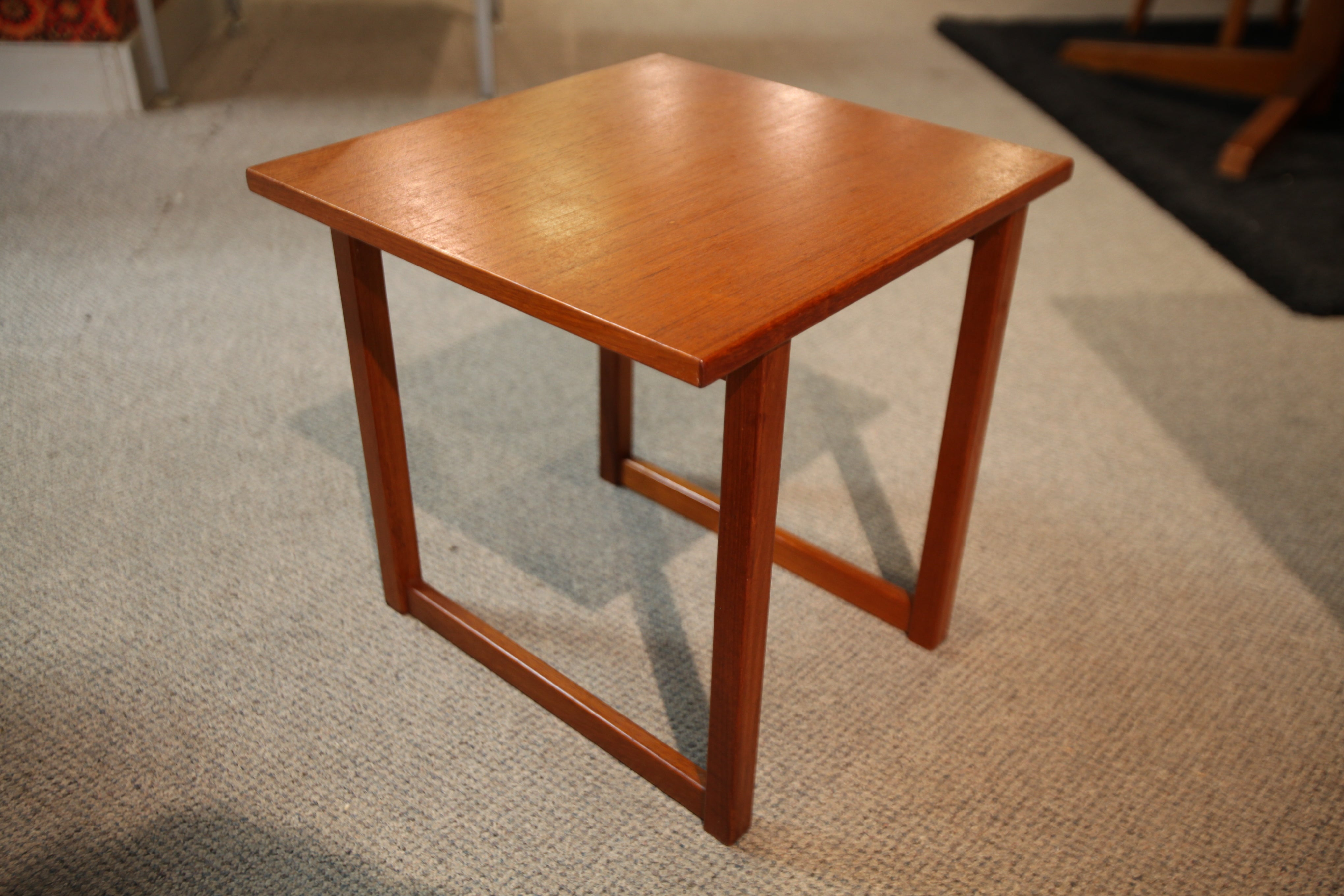 "Small Teak Side Table (16"" x 16.5"" x 16.5""H)"