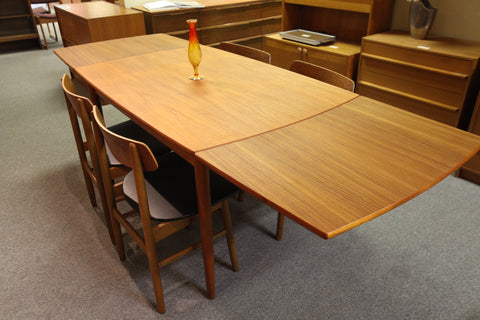 "Vintage Danish Teak Extension Table (90.75"" x 33.25"") or (50.75"" x 33.25"")"