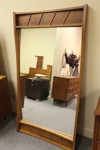 "Vintage Walnut Mirror (63.5"" x 33.75"")"