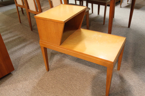 "Gibbard Vintage Blonde Wood 2 tier End Table (28""x16""x25.75""H)"
