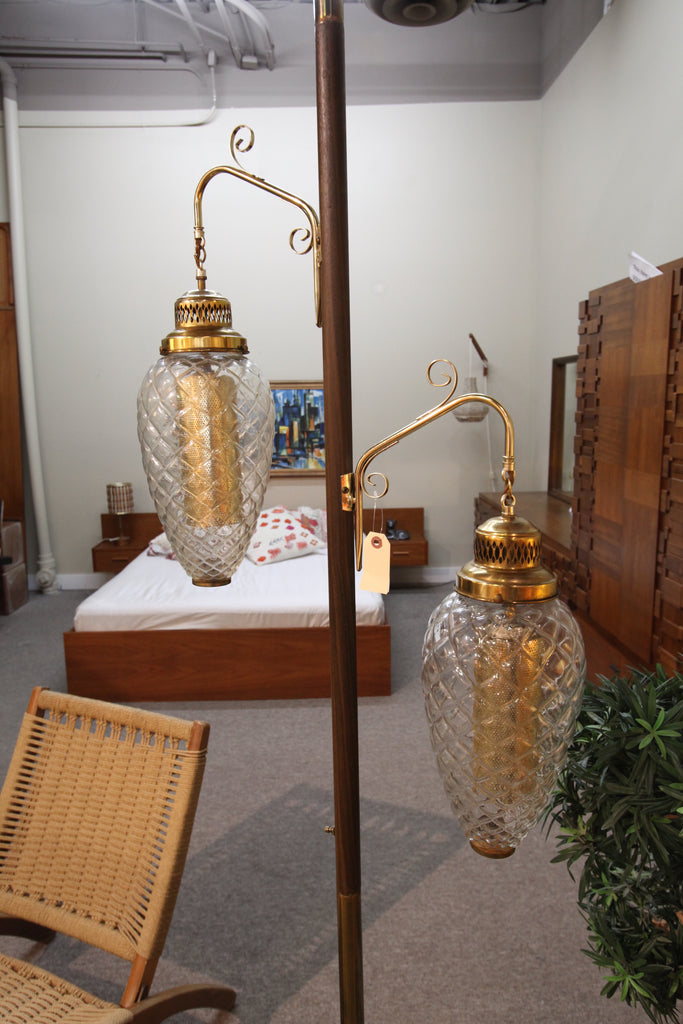 Vintage Brass Pole Lamp