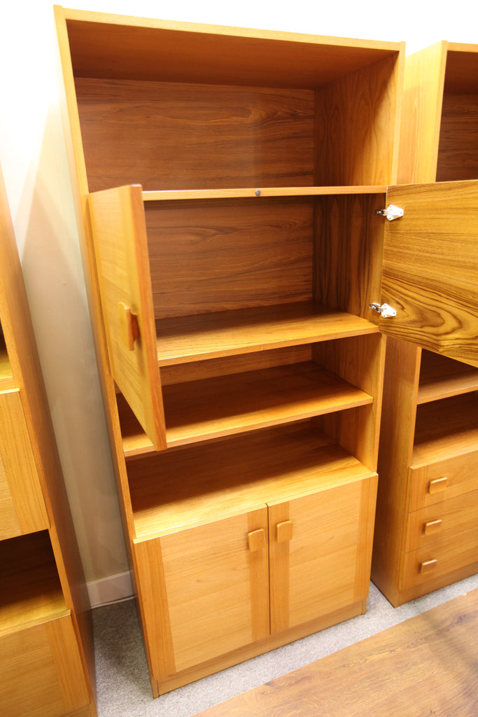 "Teak Wall Unit w/ Upper Doors and Lower Doors (32""W x 73""H x 17.25""D)"