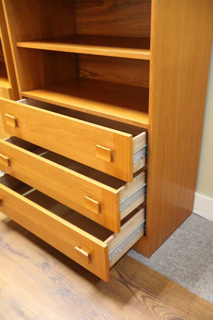 "Teak Wall Unit w/ 3 Lower Drawers (32""W x 73""H x 17.25""D)"