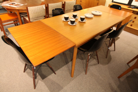 "Beautiful Vintage Danish Teak Table w/ Hidden Pull Out Leafs (96.5"" x 35.25"") (57"" x 35.25"")"