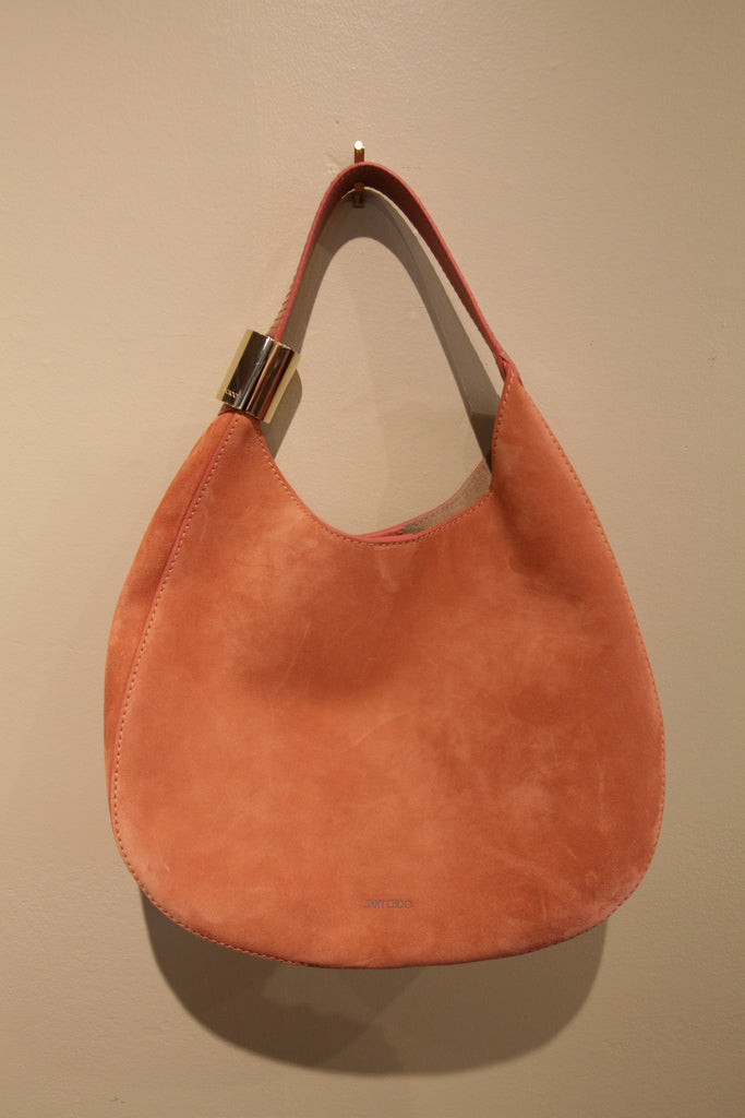 "Jimmy Choo Stevie Hobo Bag ""Rosewood Suede"" (14"" x 14"" x 4""W)"