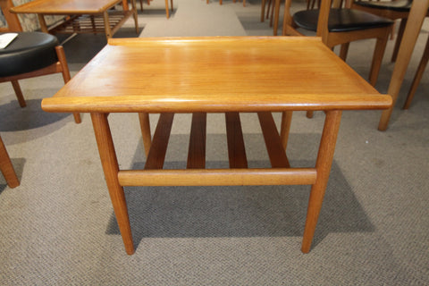 "Vintage Danish Teak Side Table (26.75"" x 20"" x 19""H)"
