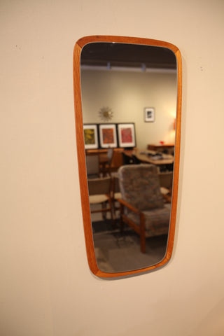"Unique Vintage Teak Mirror (29""H x 13.5""W)"
