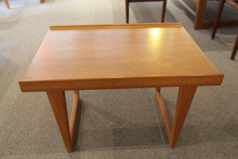 "Vintage Danish Teak Side Table (25"" x 18.25"" x 16""H)"