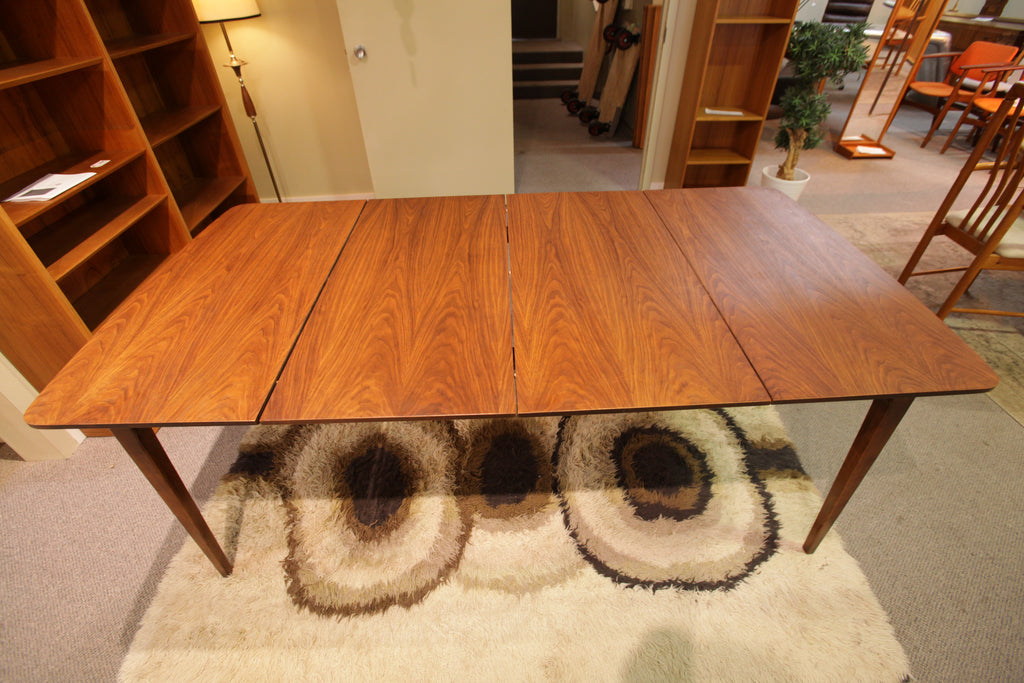 "Vintage Walnut Dining Table w/ 2 Leafs (74"" x 38"") or (38"" x 38"")"