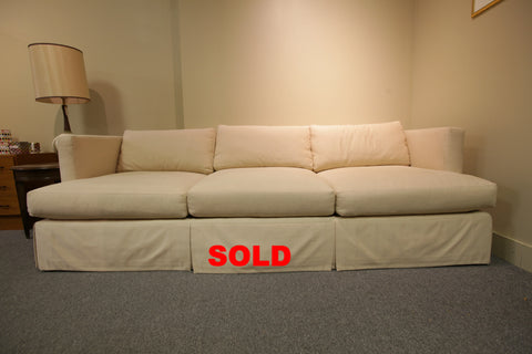 "High Quality Barbara Barry (off white) Sofa (94""W x 40""D x 29""H)"