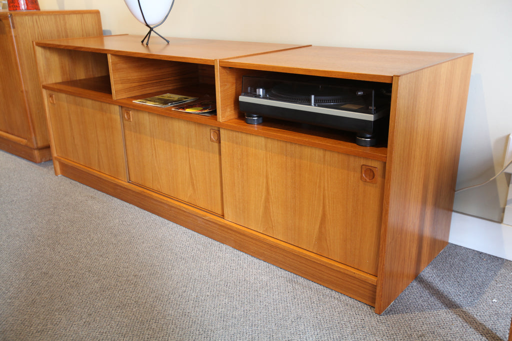 "Vintage Teak Stereo / Entertainment Unit (69""W x 19.75""D x 25.5""H)"