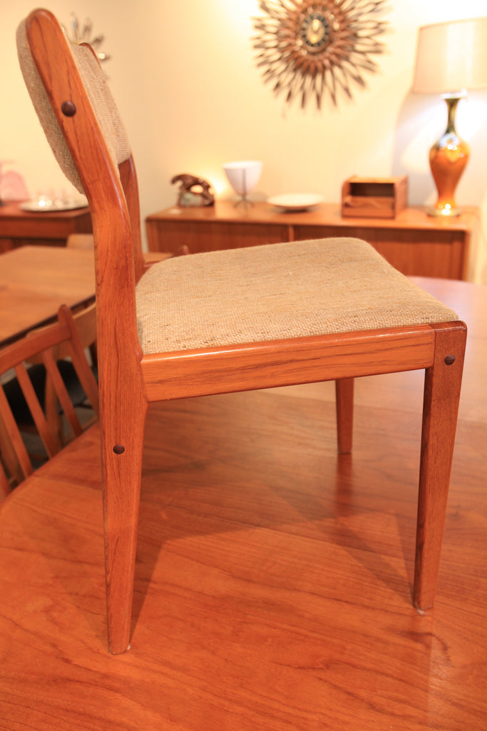 Set of 4 Vintage Teak Dining Chairs