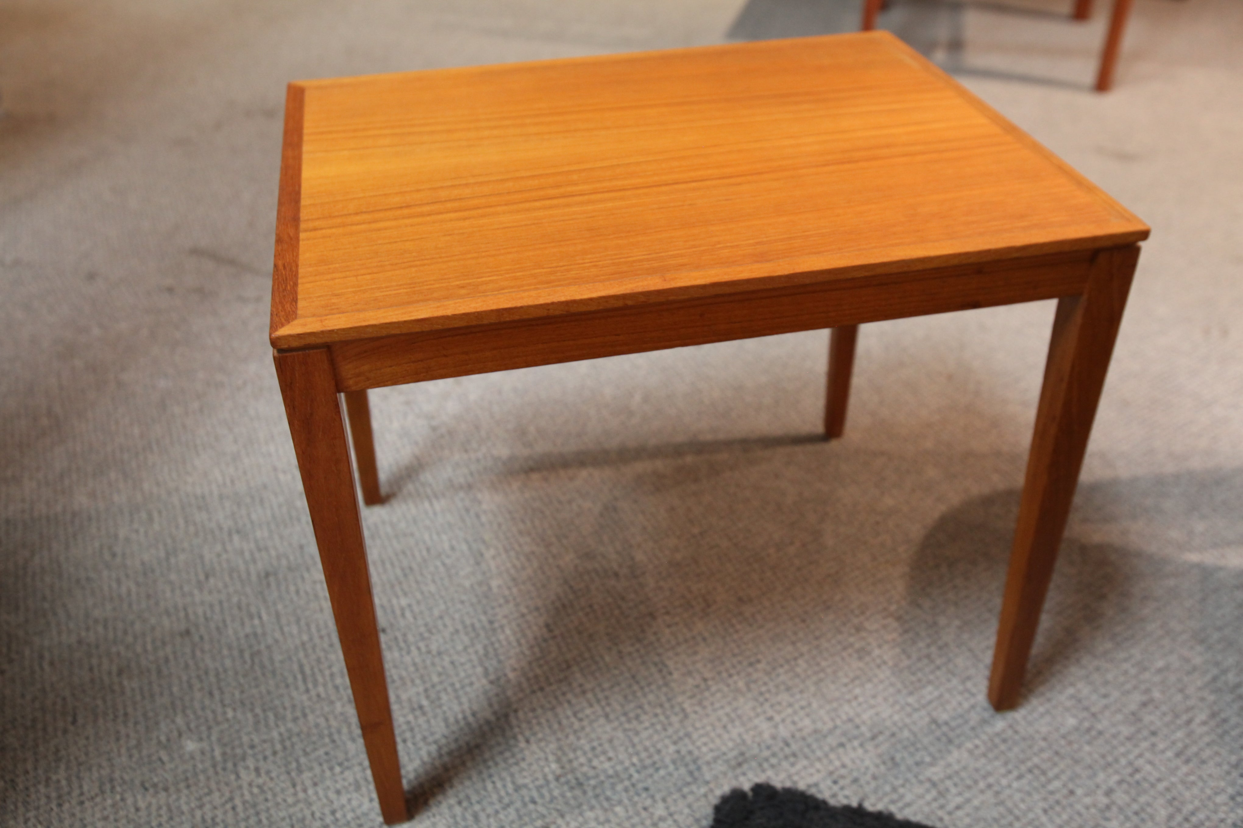 "Small Vintage Danish Teak Side Table by Bent Silberg (20.5""x15.75""x17.5""H)"