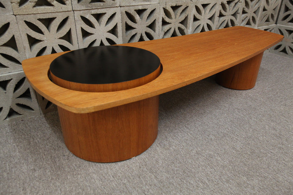 "Fabulous Vintage RS Associates Montreal Teak Martini Coffee Table (67""x26.5""x16.25""H)"