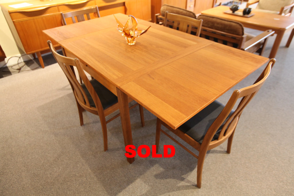 "Vintage Danish Teak Square Table w/ Pull Out Extensions (67"" x 35.5"") or (35.5x35.5)"