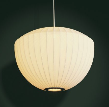 "George Nelson ""Apple"" Bubble Pendant Light (Herman Miller)"