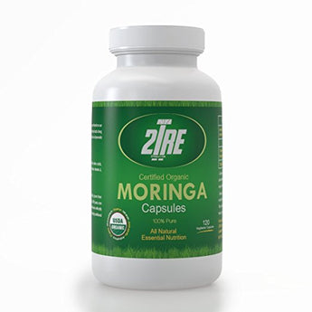 Moringa Oleifera Leaf Capsules, SuperFood Supplement - 120 Gluten Free Multi Vitamin Pills