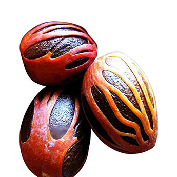 Nutmeg with Mace by 2Tre - 2oz Whole Organic Jamaican Nutmeg makes great Gifts.