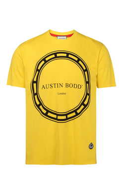 Austin Bodd Circle Ribbon Design Print T-Shirt