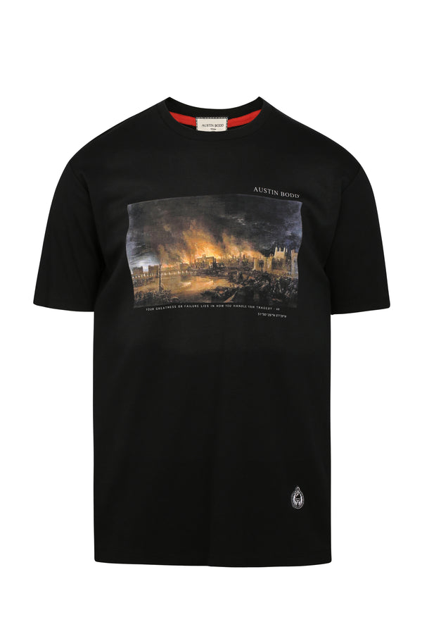 The Great Fire of London Print T-shirt
