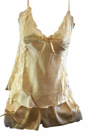 Rose Lace Cami and Short Set - Gold