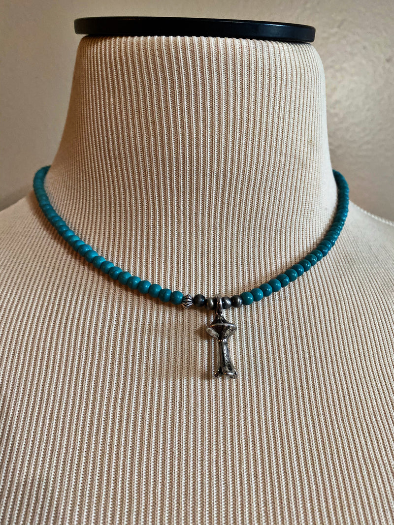 Turquoise Blossom Necklace