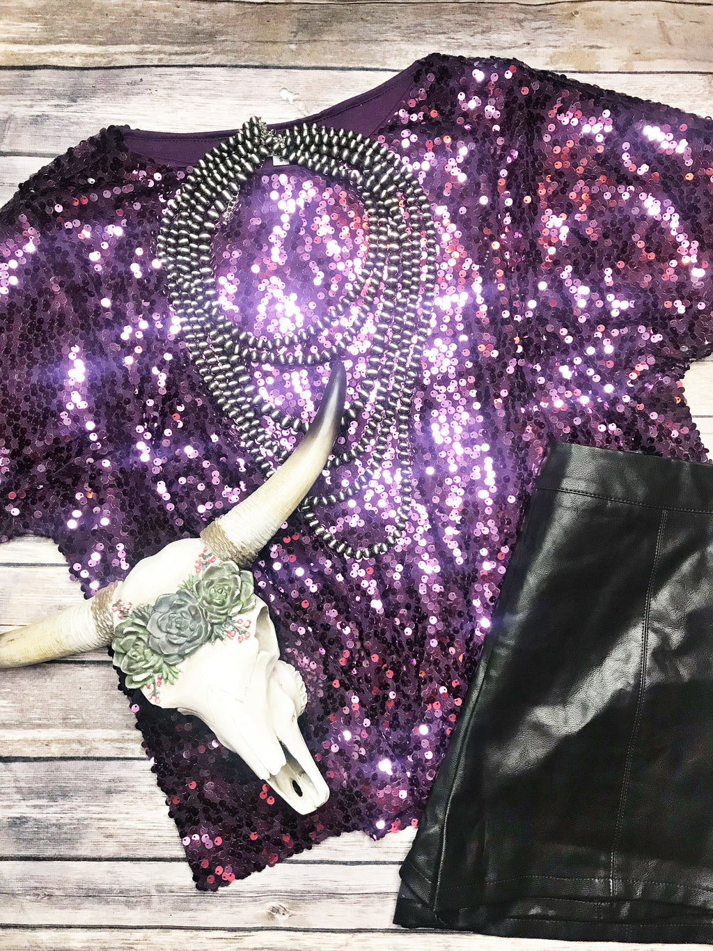 MGM Sequin Top-Purple