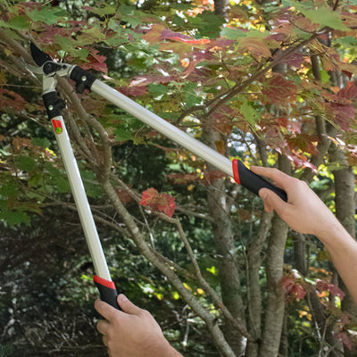 "The Gardener's Friend Loppers, Bypass Action, 24"", Strong Lightweight Aluminum Handles with Ergonomic Rubberized Grips, for Pruning Trees, Shrubs, Roses, Perennials, Garden Tools"