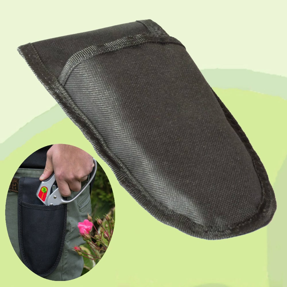 The Gardener's Friend Holster for Pruning Shears Pruners, Heavy Made, Nylon Belt Sheath with Easy to Remove Pouch, Good Companion to TGF Pruners (Sold Separately) Also Fits Other Brands