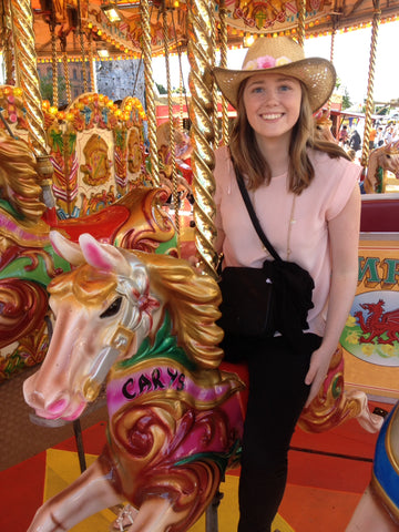 Carys L on a carousel
