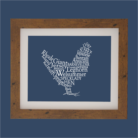 chicken designed with words