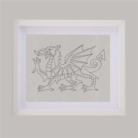 welsh dragon designed with words