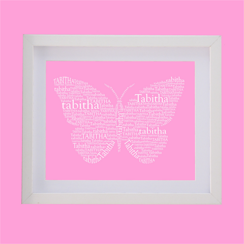 butterfly designed with words