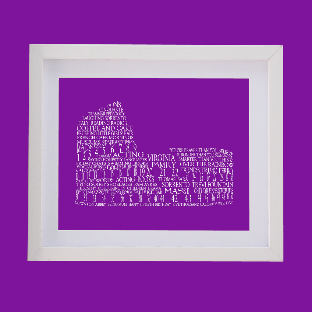 colosseum shape designed with words