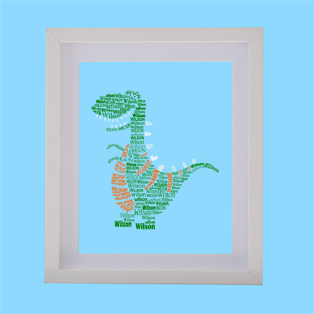 dinosaur designed with words