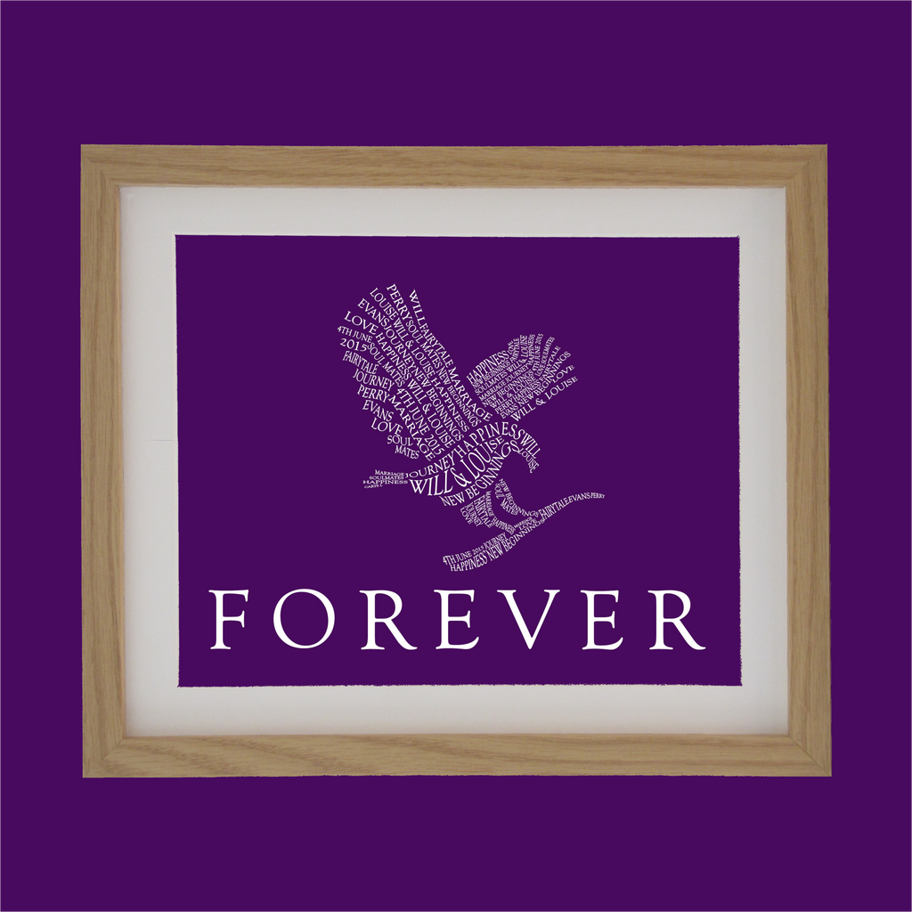 forever living eagle designed with words