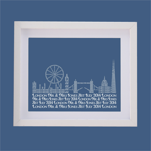 london skyline designed with words
