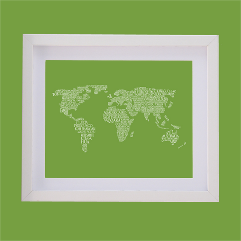 Map of the World - Personalised Typography Picture