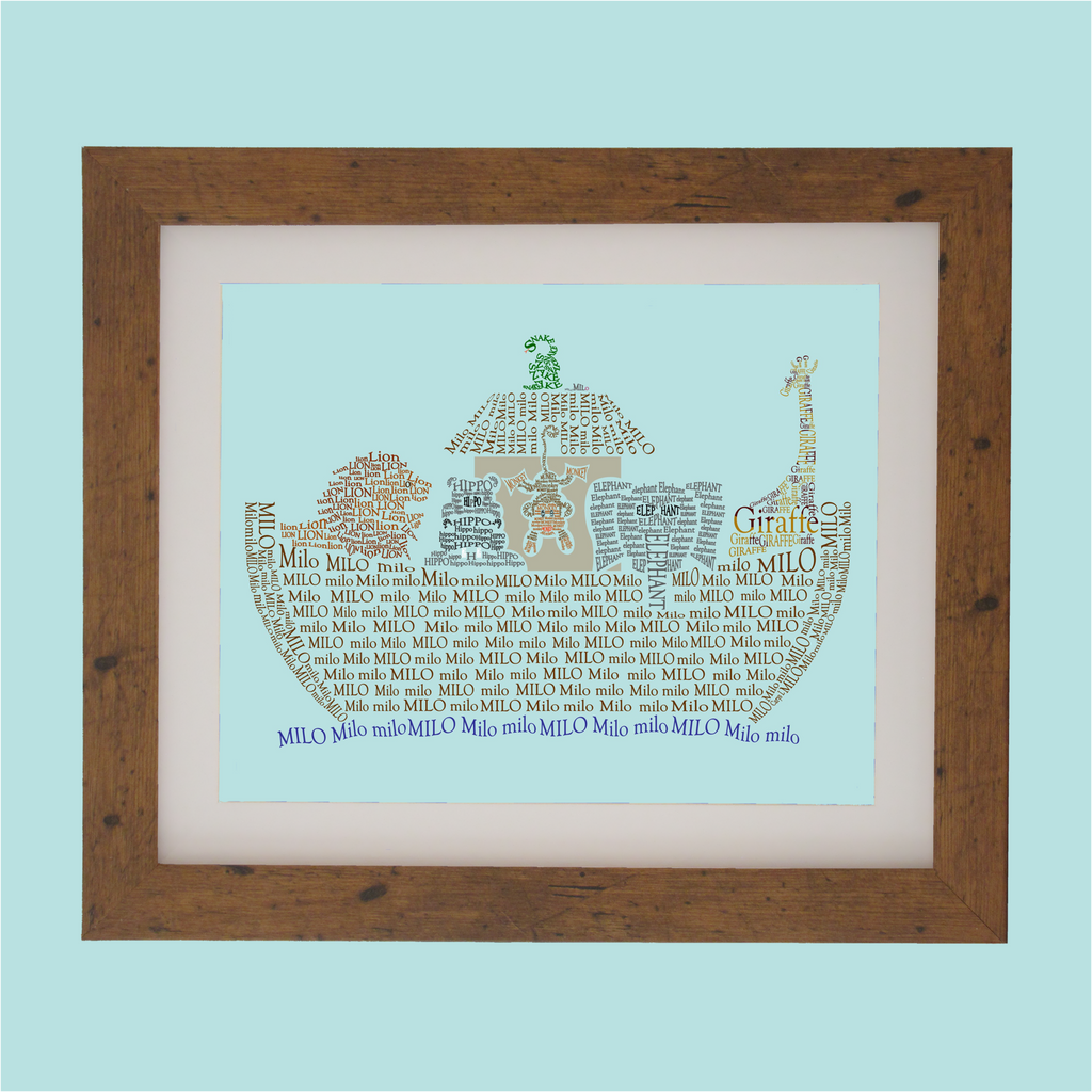 noahs ark designed with words