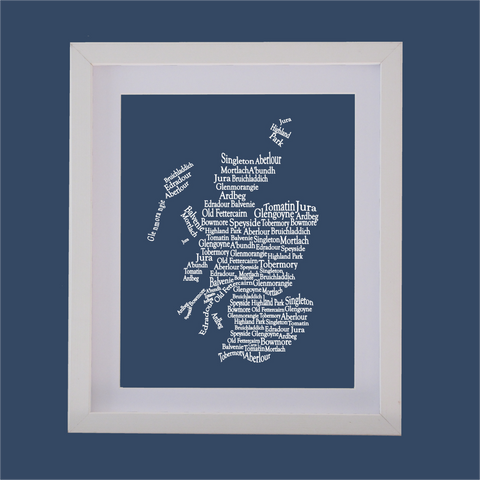 scotland shape designed with words