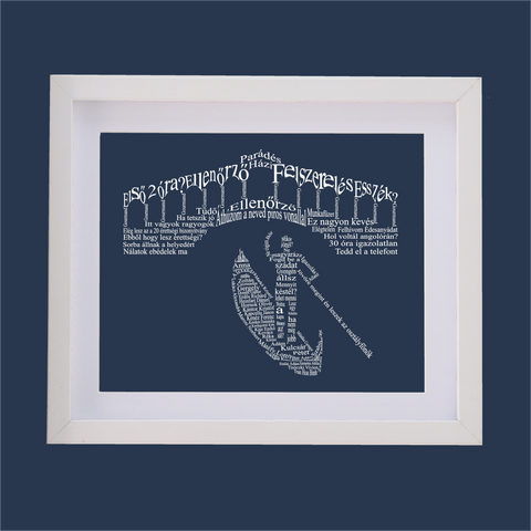 rialto bridge and gondalier venice designed with words