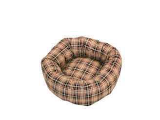 Cushion Bed in Classic Check