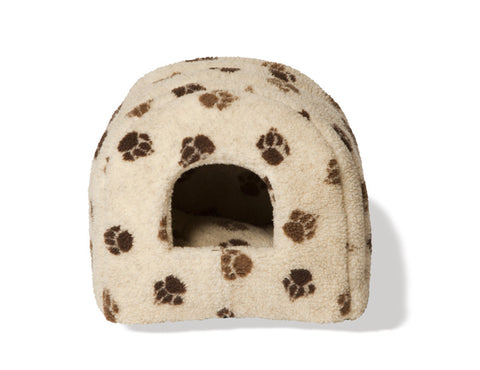 Sherpa Fleece Cat Igoo in Chocolate, Makes a Nice Dog Bed also